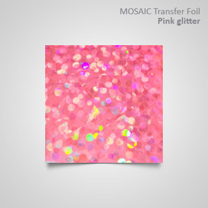 TF. Pink glitter